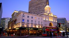 Beautifully illuminated Victoria Palace Theatre - LONDON, ENGLAND - DECEMBER 10, 2019