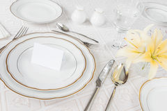 Beautifully laid table Royalty Free Stock Image