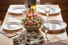 Beautifully laid table Stock Photos