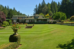 A beautifully landscaped lawn at the Butchart Gardens Royalty Free Stock Photography
