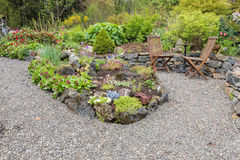 Beautifully Landscaped Outdoor Garden Stock Images