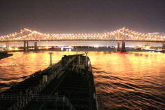 Beautifully Lighted Bridge Royalty Free Stock Image