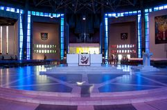 Altar at Liverpool Metropolitan Cathedral, Liverpool, UK stock photos