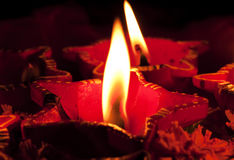 Beautifully Lit Diwali Lamps Royalty Free Stock Image