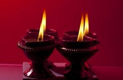 Beautifully lit lamps for Diwali. Beautifully lit lamps for the Hindu Diwali festival
