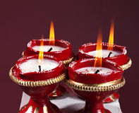 Beautifully lit lamps for Diwali Royalty Free Stock Image