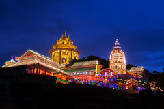 Beautifully lit-up Kek Lok Si temple in Penang Stock Photos