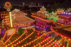 Beautifully lit-up Kek Lok Si temple in Penang Royalty Free Stock Image