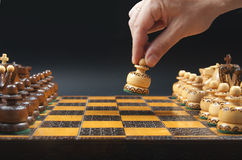 Beautifully made chess board Royalty Free Stock Photo