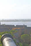 Beautifully maintained fort diu gujarat india Royalty Free Stock Images
