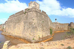 Beautifully maintained fort diu gujarat india Royalty Free Stock Photography