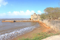 Beautifully maintained fort diu gujarat india Stock Image