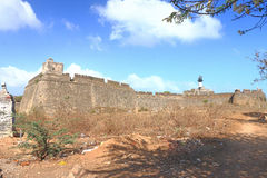 Beautifully maintained fort diu gujarat india Stock Photography