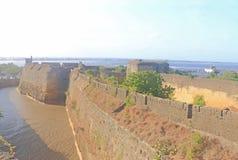 Beautifully maintained fort diu gujarat india Royalty Free Stock Photo