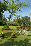 Beautifully manicured park garden in tropics Royalty Free Stock Photo