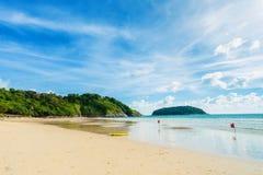 Beautifully Nai Han Beach At Phuket, Thailand. Stock Photos