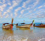 Beautifully native boats Longtails Stock Image