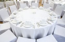 Beautifully organized event - served festive table Stock Photography