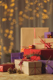 Beautifully packed christmas presents Royalty Free Stock Photo