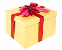 Beautifully packed gift box Stock Image