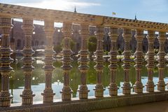 Details from the Plaza de Espana in Seville, Spain stock photo