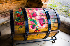 Beautifully painted decorative chest Royalty Free Stock Photo