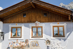 Beautifully painted house in Bavaria Royalty Free Stock Images