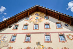 Beautifully painted house in Bavaria Stock Image