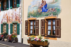Beautifully painted houses in Bavaria Stock Photo