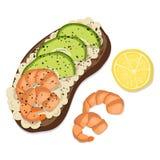 Vector Avocado Toast stock illustration