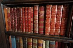 Antique Book Collection royalty free stock image