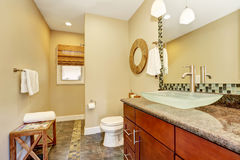 Beautifully renovated craftsman style home bathroom Royalty Free Stock Image