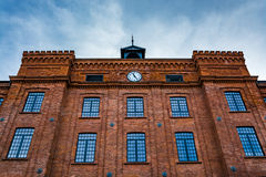 Beautifully renovated facade of an old textile factory Stock Photography
