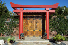 Restored oriental doors Stock Photos