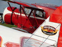 Beautifully restored antique Cabin Waco and Classic Stearman. Royalty Free Stock Photo