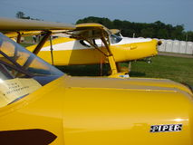 Beautifully restored antique 1930s Fairchild F24 private airplane. Royalty Free Stock Images