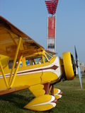 Beautifully restored antique Waco UEC. The photo of this beautifully restored antique Waco UEC biplane was taken during the annual EAA Airventure fly-in Stock Photography