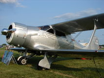 Beautifully restored Beechcraft Model 17 Staggerwing biplane was taken during the annual EAA Airventure Stock Photos