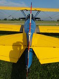 Beautifully restored Boeing PT-17 Stearman. The photo of this beautifully restored Boeing Stearman was taken at the Noblesville airport in Indiana stock photo