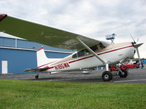 Beautifully restored Cessna 185 Skywagon airplane. Stock Photo