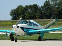 Beautifully restored classic Beechcraft Bonanza F35. Stock Image