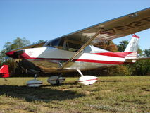 Beautifully restored classic Cessna 172 fastback. Stock Photos