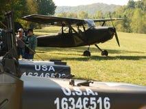 Beautifully restored Classic Cessna L19 Bird Dog. Stock Photos