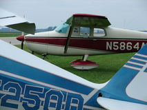 Beautifully restored classic Cessna 172. Royalty Free Stock Photo