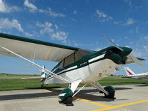 Beautifully restored classic Piper Super Cruiser. Stock Photo