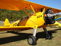 Beautifully restored classic PT-17 Stearman kaydet. Stock Photos