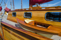 Beautifully restored classic sail boat Royalty Free Stock Photos