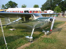 Beautifully restored highly polished Cessna 140. Stock Photo