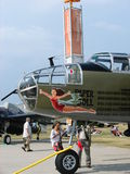 Beautifully restored North American B25 Mitchell bomber. Stock Photography