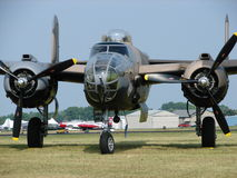 Beautifully restored North American B-25 Mitchell bomber. Royalty Free Stock Photography